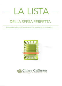 La lista della spesa perfetta e book nutrizionista cecina
